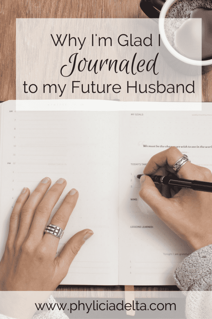 I wrote to my husband for five years -from the time I stopped ingesting romantic entertainment to the day we said our vows. Even though we rarely read those letters today, I'm gladI journaled to Josh long before I met him.