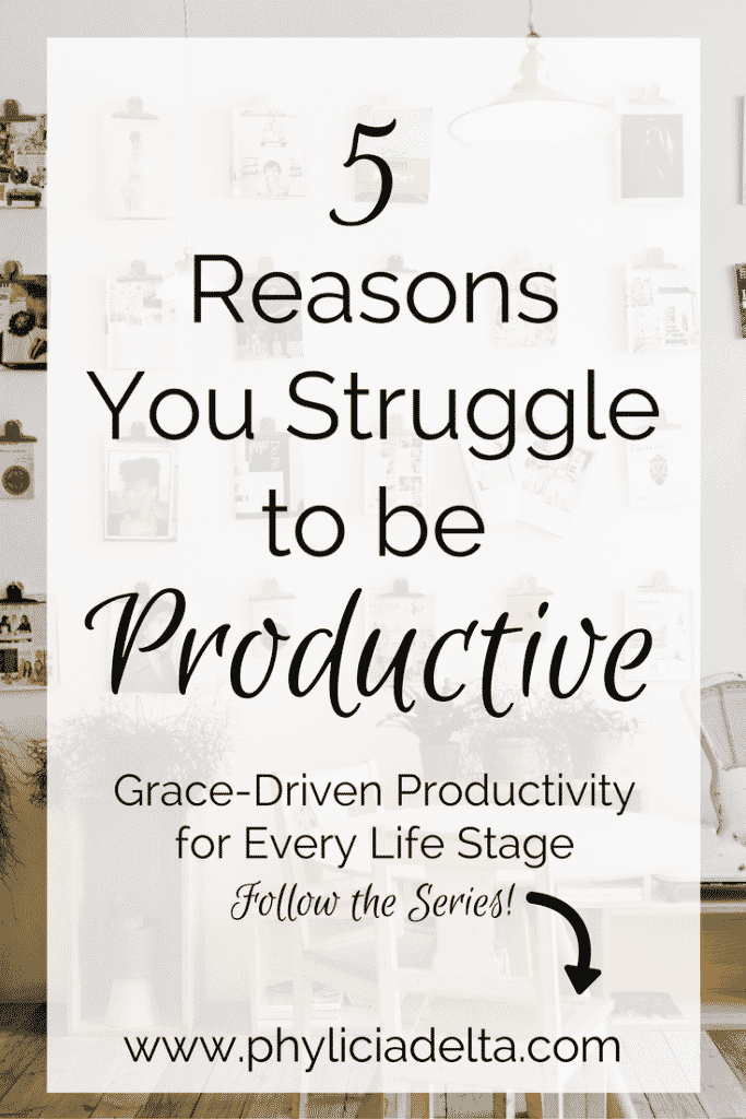 Why then do we struggle to be productive? I think the Enemy knows that distraction (even in the form of good things) will keep us from living effective lives for the gospel. That's why productivity isn't just for self-help gurus.